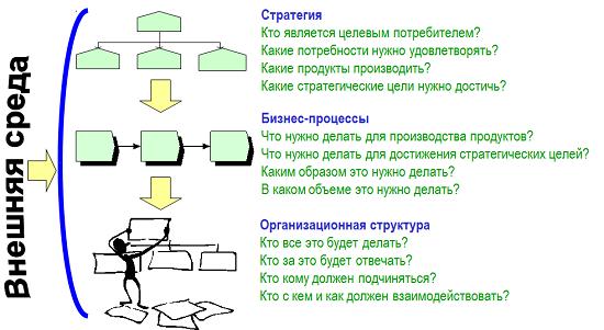 Этапы построения организации